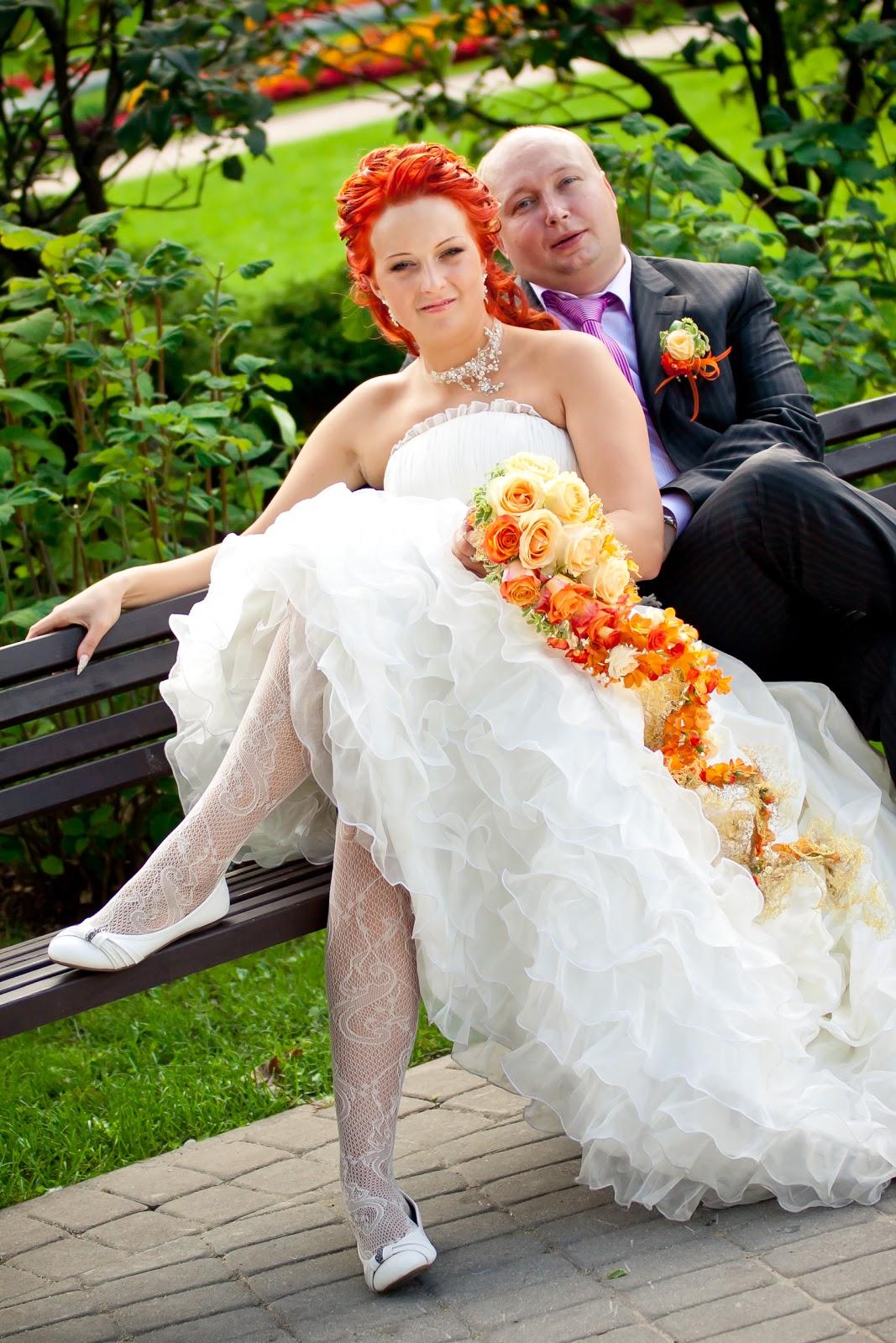 С невестой рыжая 6 фотография