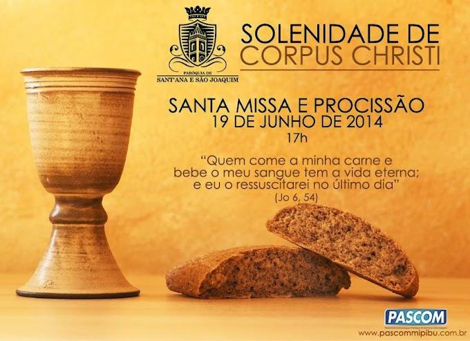 SOLENIDADE DE CORPUS CHRISTI 2014