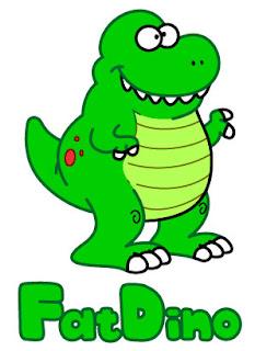 fat green dinosaur tyrannosaurus t rex smiling grinning