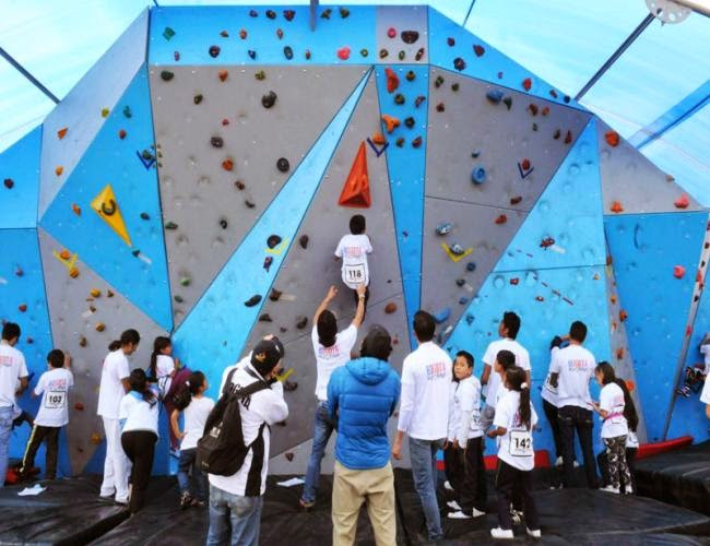 muro público de escalada