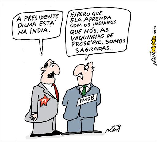 Dilma viaja para a Índia