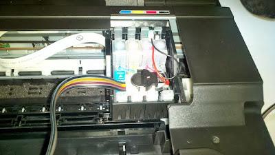 impresora epson con sistema de tinta conectado