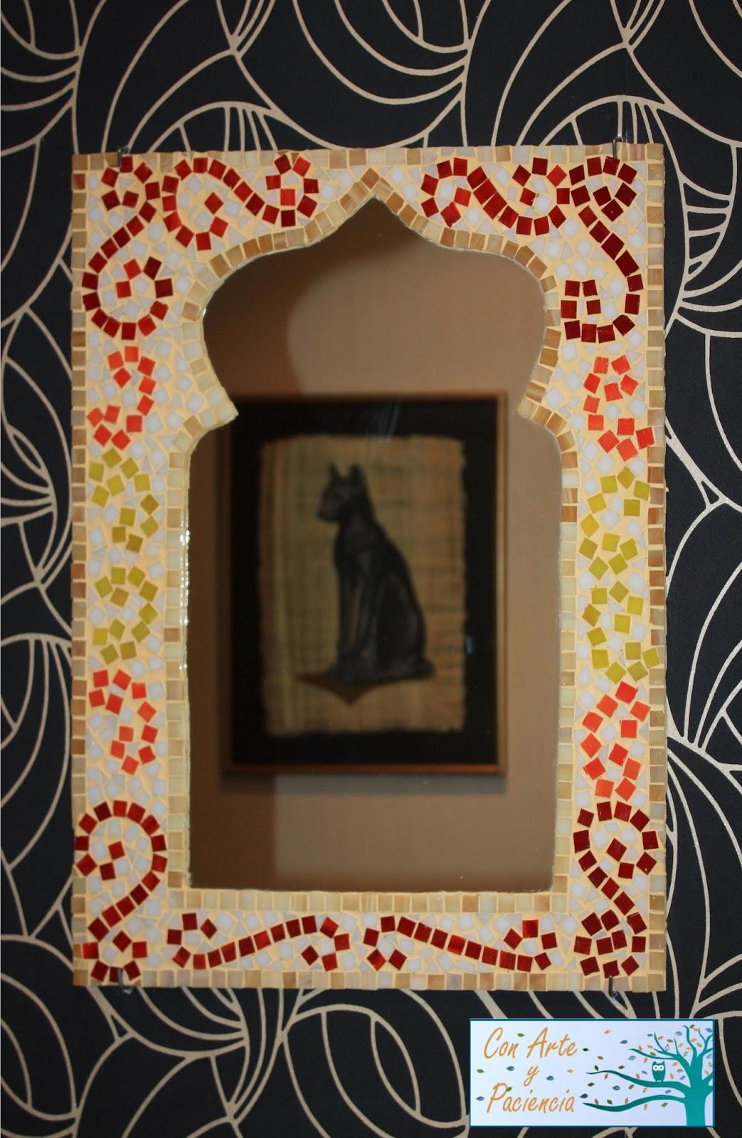 Ante todo con arte y paciencia espejos hechos a mano para - Colgar espejo pared sin marco ...