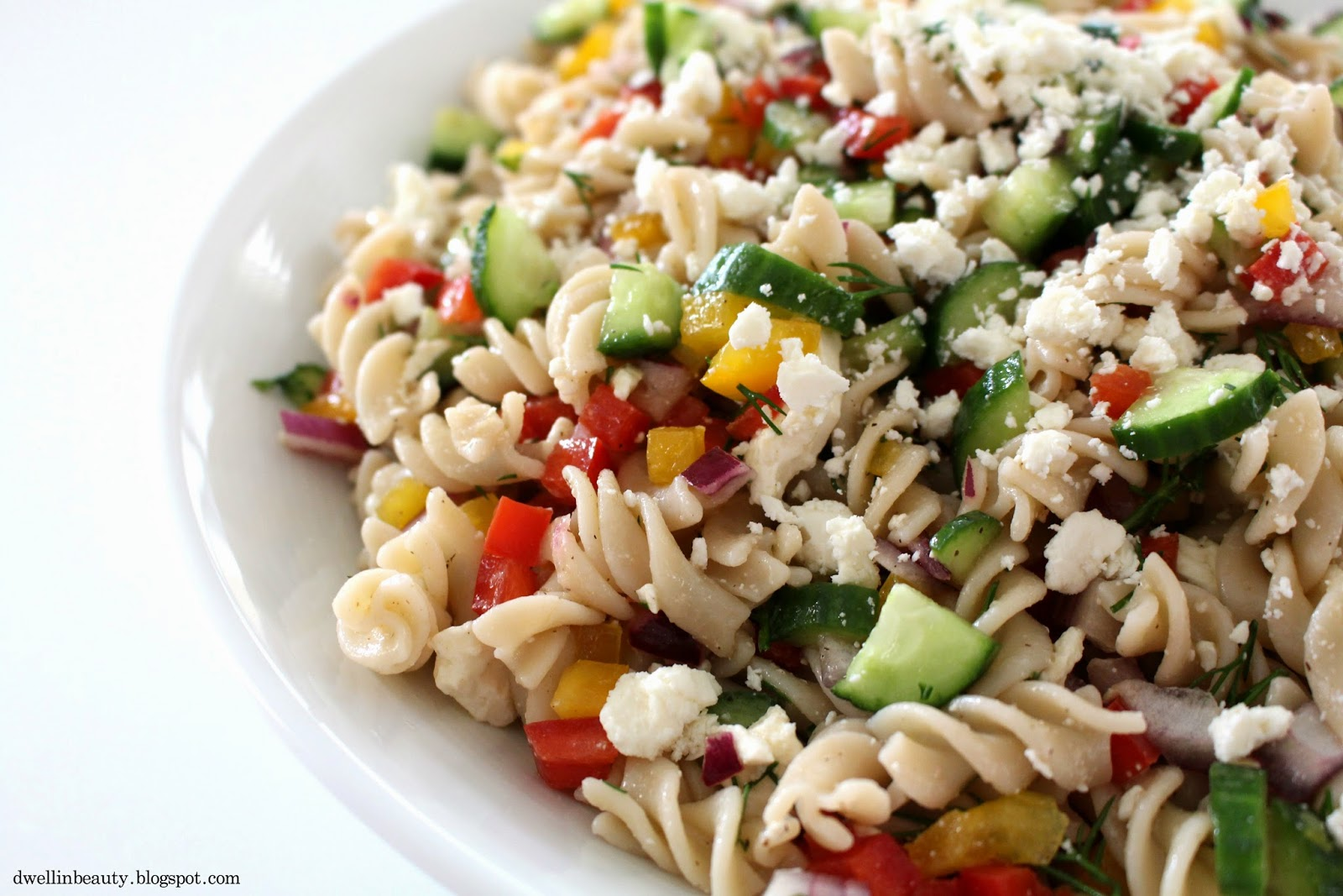 Dwell in Beauty: Dill & Veggie Garden Pasta Salad