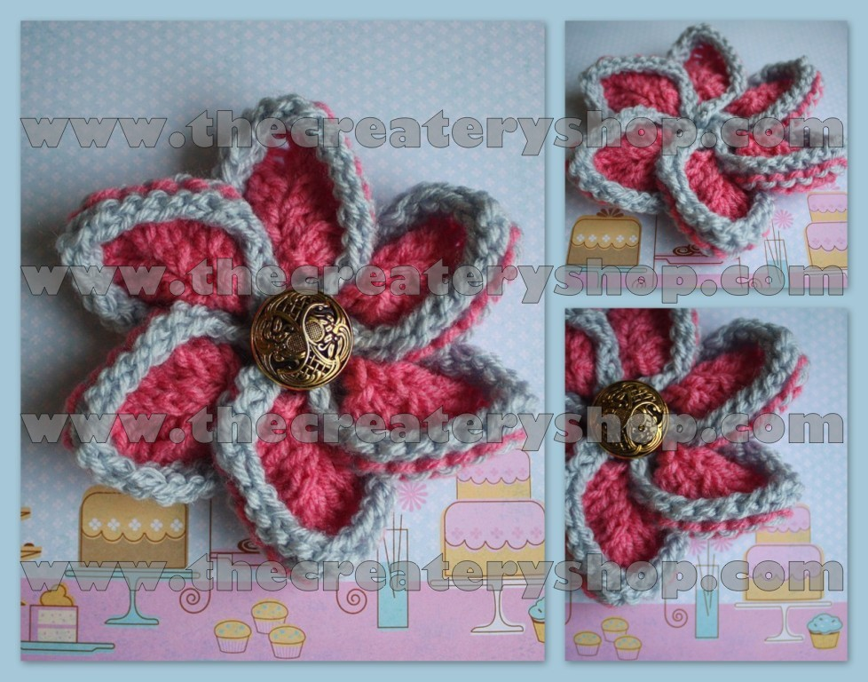 The Createry Shop Easy Flower To Knit Colorful Confection Flower