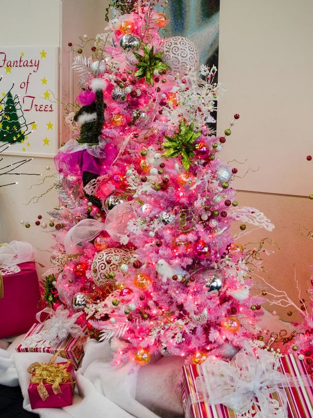 This fine example of a pink tree from Fantasy of Trees emphasizes ...