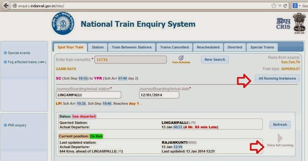 late train enquiry