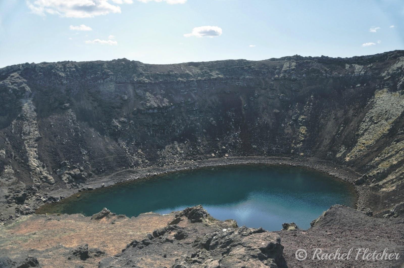Kerið volcanic crater lake