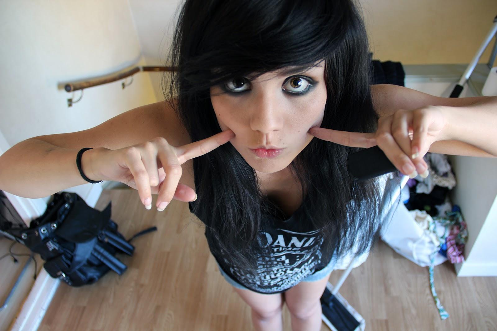 rocker girl emo scene jack daniels top