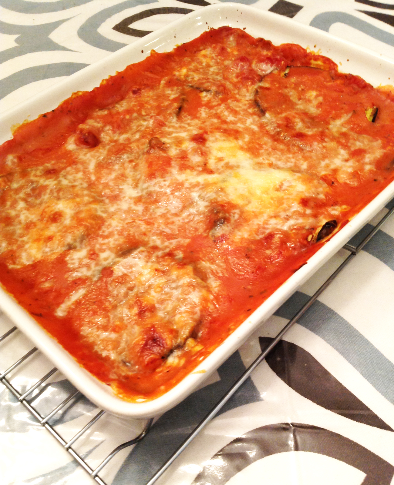 my back pages: lighter eggplant parmesan