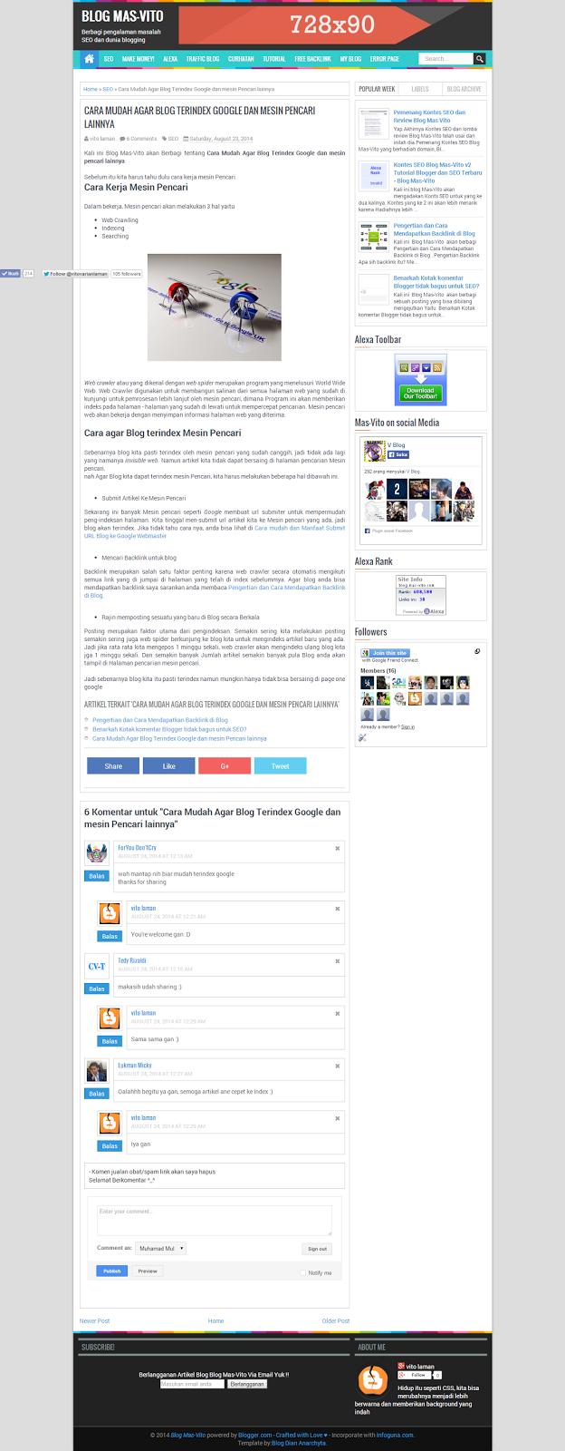 Tutorial Blogger dan SEO Terbaru - Blog Mas-Vito