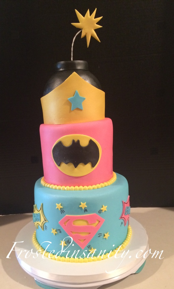 Frosted Insanity Super Hero Cake for Girls