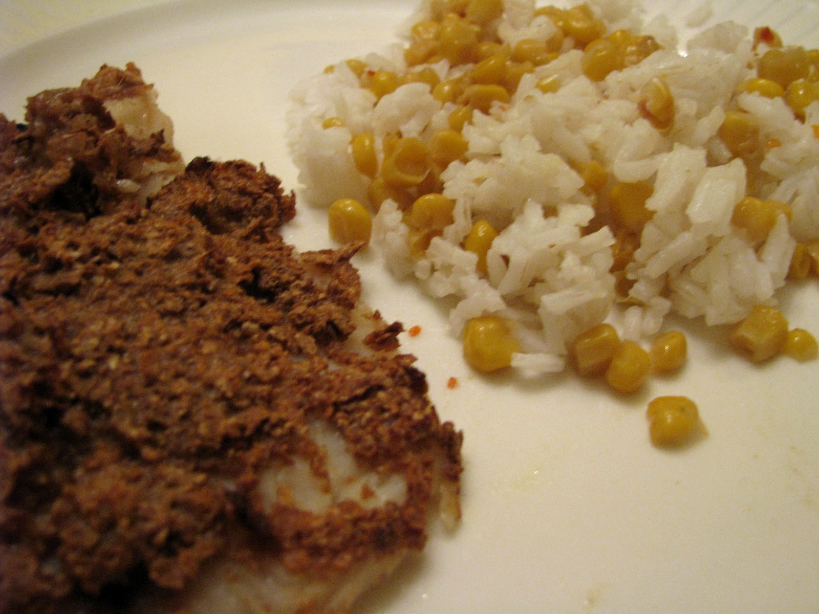 fish with rice and corn