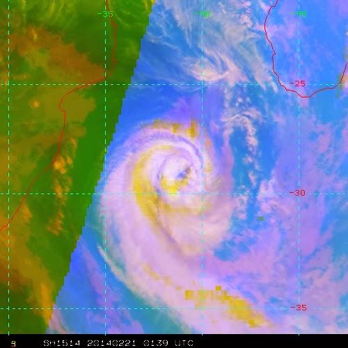 Image satellite de la tempête modérée guito