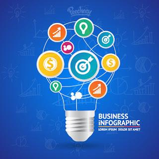 ビジネス アイデアをイメージした背景 Idea infographic イラスト素材