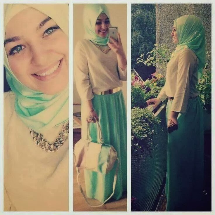 Vêtement-Hijab-vert