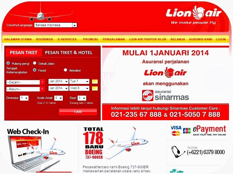 Poto dapet nyomot di web Lion Air