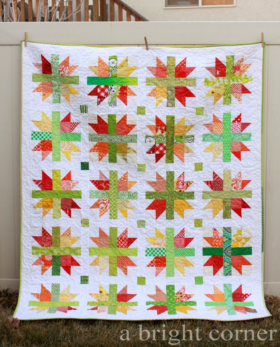 Scrappy New England quilt via A Bright Corner