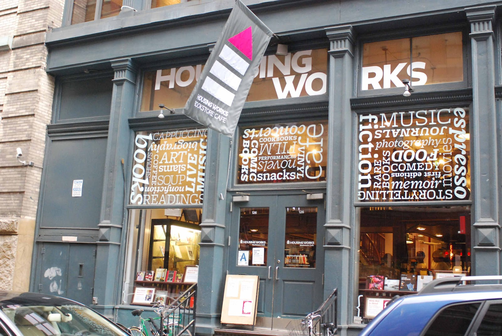 Housing Works Bookstore Cafe In SoHO   Benefitting People Living With And  Affected By HIV/AIDS