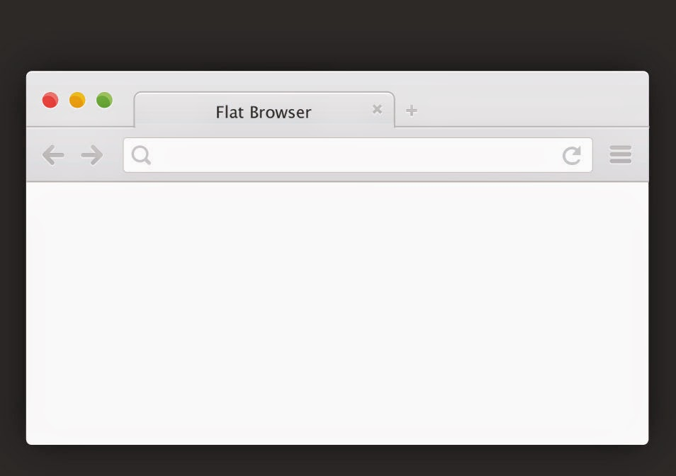 Flat Browser Chrome PSD