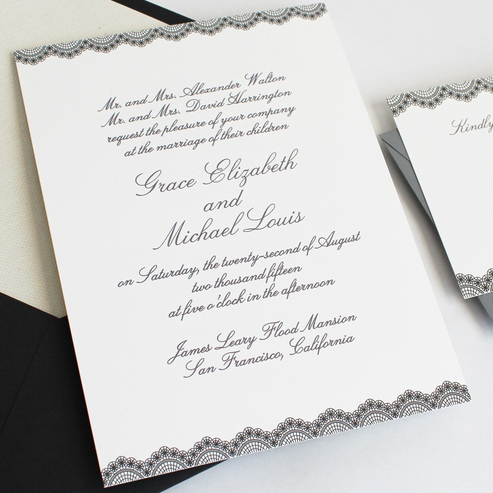 Wedding invitations and kits