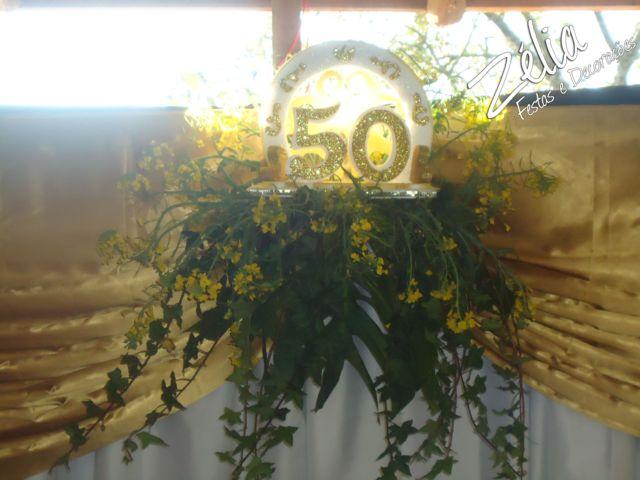 decorar ouro branco:Bodas de Ouro ~ Projeto Zelia festas e decorações