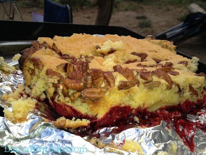 Cherry Dump Cake Camping