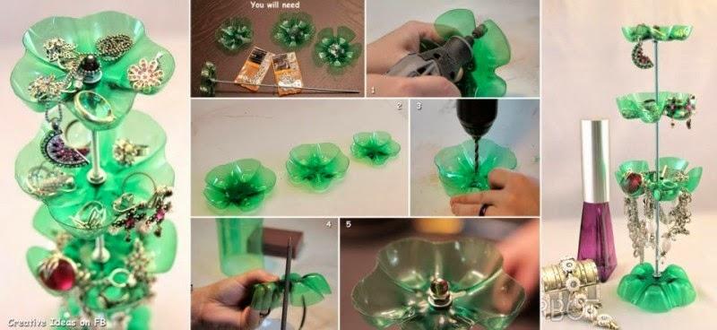 Utiliza botellas recicladas para crear tu propio joyero