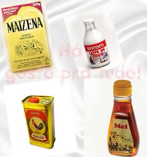 hidrate seus cabelos com maizena, leite de coco, azeite de oliva e mel