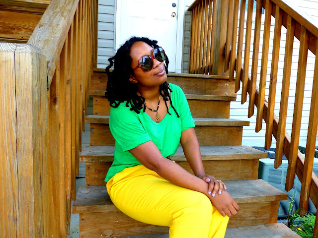 bright yellow pants trend 2013