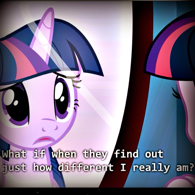 Twilight Sparkle has a Transgender moment looking in the mirror