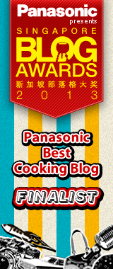 Singapore Blog Awards Best Cooking Blog Finalist 2013