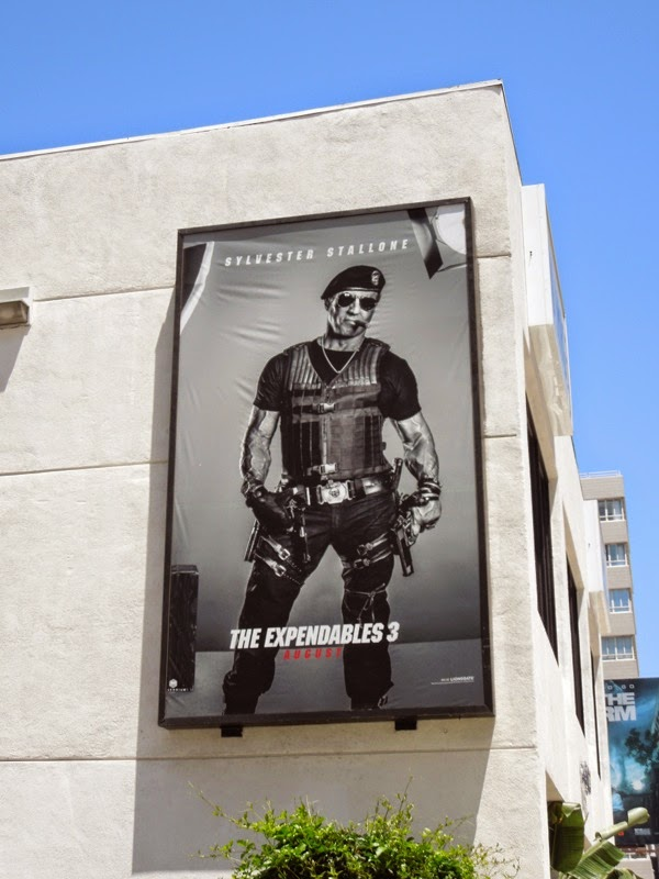 Sylvester Stallone Expendables 3 movie billboard
