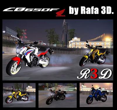 Baixar moto Honda CB650F Para GTA San Andreas