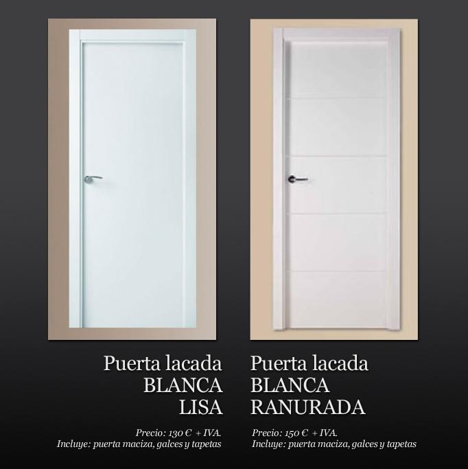 Siparket studio puertas lacadas blancas for Puertas macizas blancas