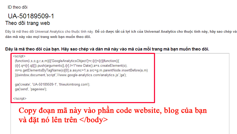 cach cai dat google analytics cho website blog