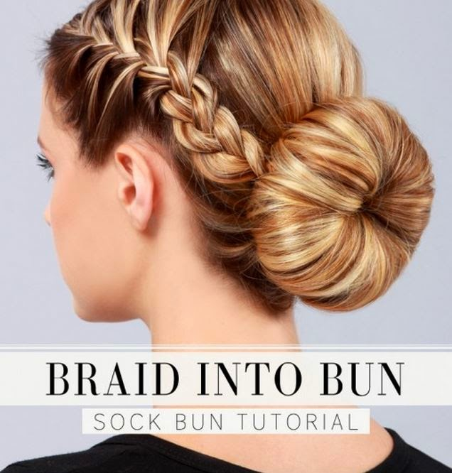 Pleasing Diy Braid Bun Hairstyle Tutorial The Idea King Hairstyle Inspiration Daily Dogsangcom
