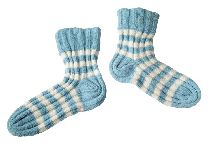 wearing 2 pairs of socks