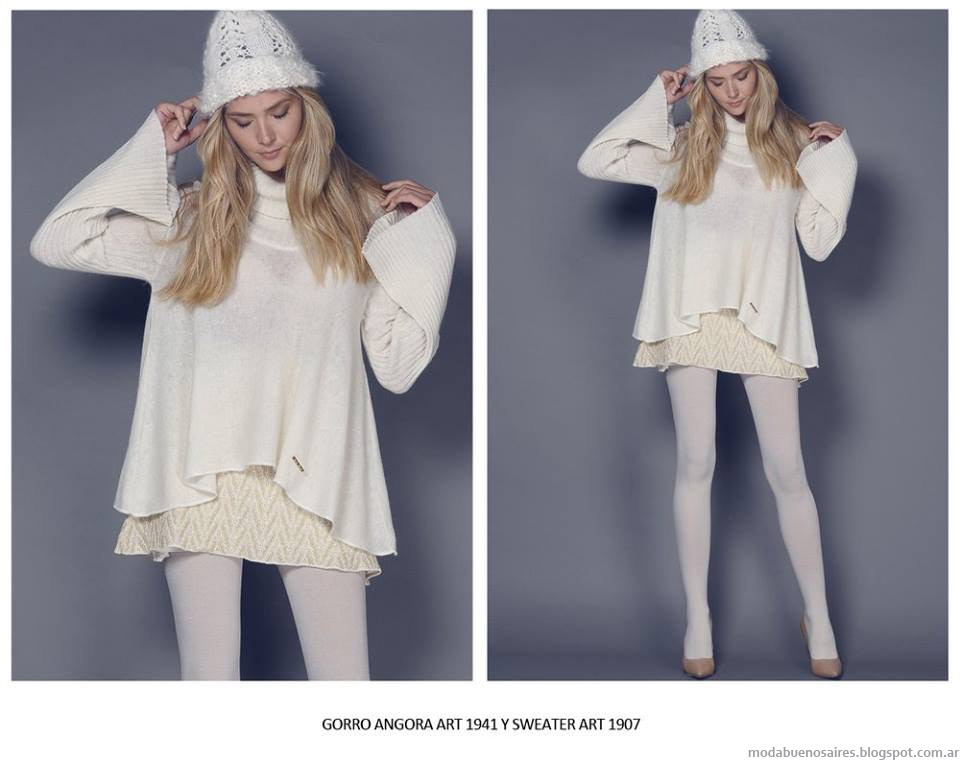 Ropa de mujer tejidos artesanales invierno 2015 Agostina Bianchi.