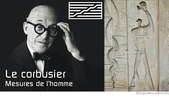 affiche expo Beaubourg Le Corbusier, Le Corbusier inspiré influence Parthenon, Expo le Corbusier Mesure de l'Homme Beaubourg centre George Pompidou architecture design urbanisme