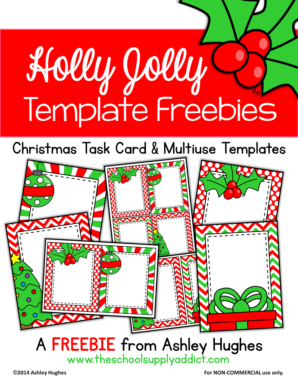 Holly Jolly Template Freebies {Ashley Hughes}