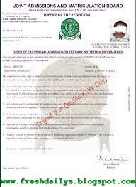 How to Print 2015/2016 Original JAMB Admission Letters