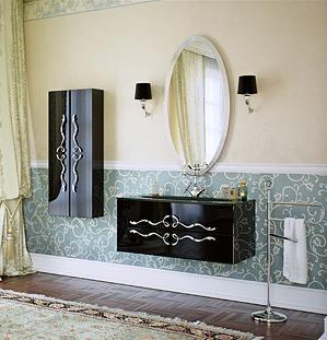 Сантехника на фото: мебель Clarberg Due Amanti для ванной комнаты