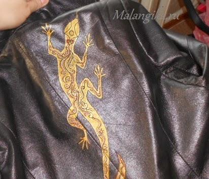роспись пиджака