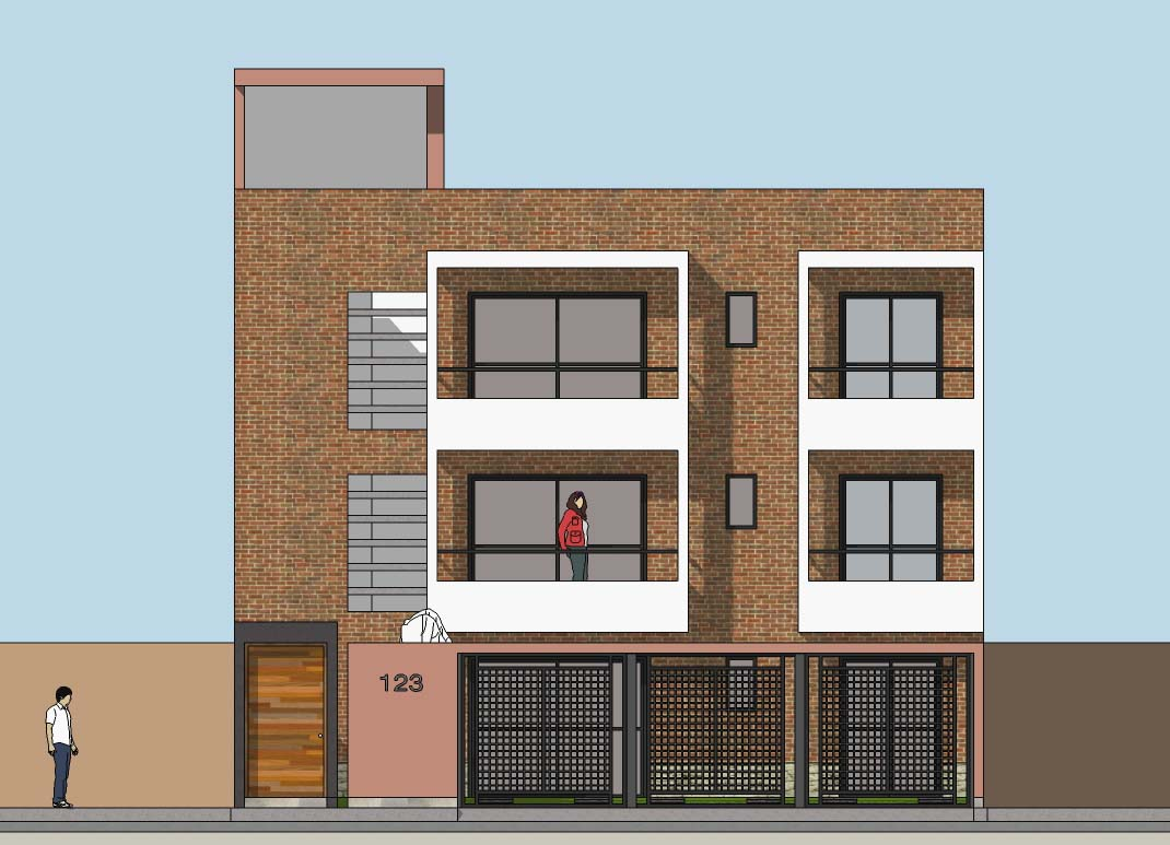 Oniria dise o de vivienda multifamiliar en terreno de 11 for Diseno de viviendas