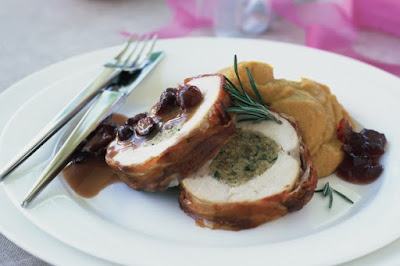 Festive roast with port and cranberry gravy Recipe