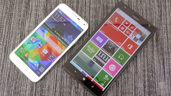 Samsung Galaxy S5 vs. Nokia Lumia 1520