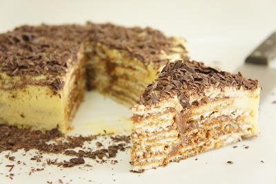 Receita de Bolo de Bolacha com Chocolate