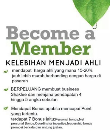 Be A Shaklee Member Now!