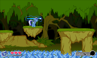 An image showcasing some of the game's parallax scrolling.